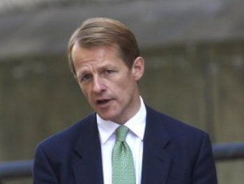 David Laws, UK chief treasury secretary, arrives for a press conference at Her Majesty's Treasury on May 24. (Rupert Hartley - Pool/Getty Images)