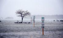 Sandy Crosses Delaware