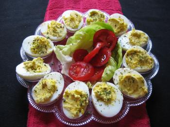 Deviled eggs are simple to make and delicious to eat. (Maureen Zebian/The Epoch Times)