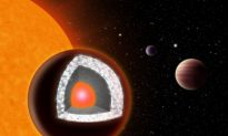 Diamond-Rich Exoplanet Double Earth's Size
