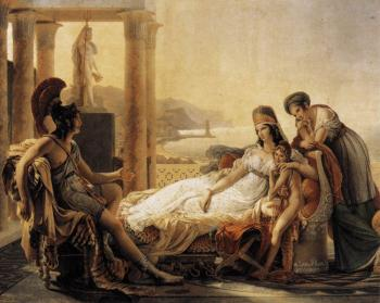 FOUNDER OF PHOENICIA: Queen Dido, a refugee after the sack of Troy, founded Carthage. 'Dido and Aeneas,' Pierre-Narcisse Guerin (1774-1833), oil on canvas, Musee du Louvre (Paris, France).  (Artrenewal.org)