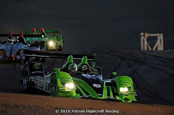 Marino Franchitti leads Scott Wilkins in the Level 5 Oreca and Eliot Julian in the Gunnar Racing Oreca. (Patr&#243n Highcroft Racing)