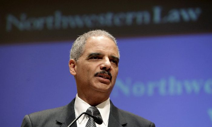 Attorney General Eric Holder gives a speech at Northwestern law school March 5 in Chicago, Ill. Holder discussed the ability to target and kill American citizens in other countries in the war on terror. (Photo by John Gress/Getty Images)