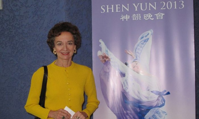 Susan Weidner enjoyed Shen Yun Performing Arts at the Ikeda Theater in the Mesa Arts Center, on March 3. (Yaning Liu/The Epoch Times)