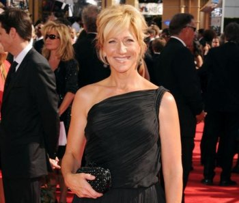 EMMY AWARDS 2010: Edie Falco arrives at the 62nd Annual Primetime Emmy Awards held at the Nokia Theatre LA Live on August 29, 2010 in Los Angeles, California. She won an Emmy Award for the title role in 'Nurse Jackie.' (Jason Merritt/Getty Images)