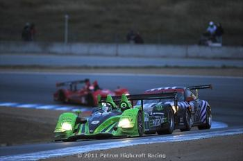 Marino Franchitti leads Shane Lewis in the #88 Velox Motorsports Porsche 911GT# and Tom Sutherland in the #36 Genoa Racing Oreca. (Patr&#243n Highcroft Racing)
