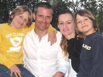 FAMILY PHOTO: The Johnson family, left to right: Max, Scott, Bea and Leo. (Courtesy of Bea Johnson)