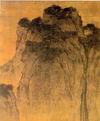 The minuteness of people and animals in Fan Quan's expansive landscapes is reflective of the Daoist ideal of becoming one with nature.  (Painting by Fan Quan)