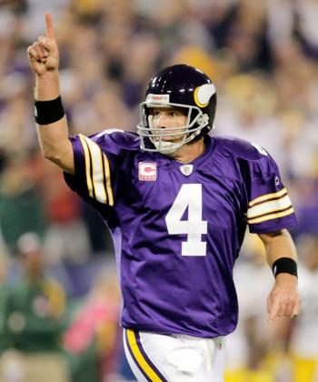 Brett Favre is now the only QB in NFL history to have beaten all 32 NFL teams. ( Jamie Squire/Getty Images )