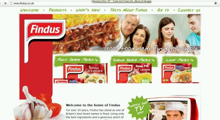 A screenshot of Findus' website. The company said it is recalling lasagne that was contaminated with horse meat. (Screenshot by The Epoch Times)