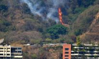 Forest Fires Rage Outside Caracas