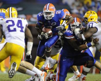 Last year in Florida, the Gators won 51-21. They'll try and avenge a bitter loss in 2007 to the Tigers on Saturday night. (Al Messerschmidt/Getty Images)