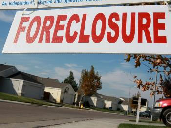 Foreclosures hit historic highs as sub-prime loans and bank failures combined to render millions homeless.  (Justin Sullivan/Getty Images)
