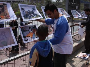 This photo exhibition tells about the lives of the African asylum seekers in Israel.  (Yaira Yasmin/The Epoch Times)