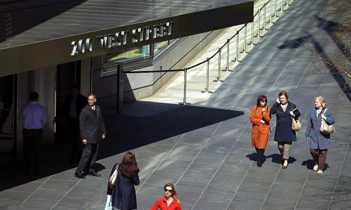 People walk past the Goldman Sachs headquarters on March 14 in New York City. Former Goldman Sachs executive director Greg Smith wrote a scathing editorial about the company while resigning in the March 14 edition of the New York Times. (Mario Tama/Getty Images)