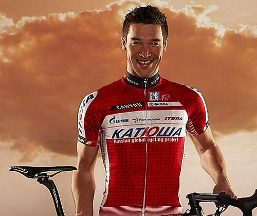 Katusha's Denis Galimzyanov admitted to using the banned substance EPO to improve his cycling performance. katushateam.com
