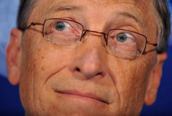 TOP SPOT: Bill Gates of Microsoft Corp. took out the top spot on the Forbes' richlist despite a loss of $18 billion. (Fabrice Coffrini/AFP/Getty Images)