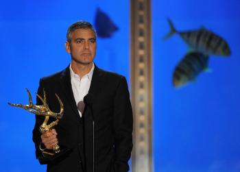 George Clooney is set to receive a Bob Hope Humanitarian Award at the Primetime Emmy Awards on Sunday night. (Kevin Winter/Getty Images)