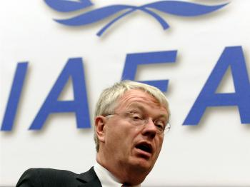 Germany's ambassador to the International Atomic Energy Agency IAEA Rudiger Ludeking attends the board of governors meeting at the IAEA's headquarters in Vienna on November 27, 2009. (Joe Klamar/AFP/Getty Images)