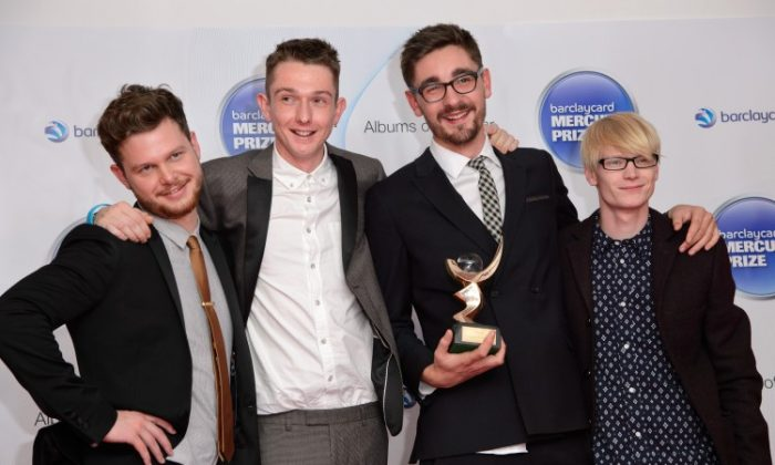 Alt-J win the Barclaycard Mercury Music Prize at The Roundhouse on November 1st, 2012 in London, England. (Ben Pruchnie/Getty Images)