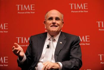 Former New York mayor Rudy Giuliani speaks at the TIME's 2009 Person of the Year at the Time & Life Building on Nov. 12 in New York City. (Jemal Countess/Getty Images for Time Inc)