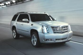 GM Cars: The 2011 Cadillac Escalade ESV, one of the models subject to a recall by automaker General Motors due to faulty rear axle cross pins. (Courtesy of GM)