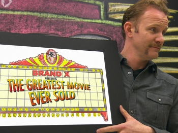PROMOTION PLIGHT: Morgan Spurlock director of the documentary 'POM Wonderful Presents: The Greatest Movie Ever Sold.' (Sony Pictures Classics)