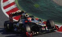 Lotus, Grosjeans Again Top F1 Testing