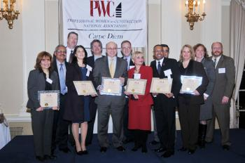 Award honorees gather as part of a celebration of the World Trade Center construction, March 25, 2009. (Mingguo/The Epoch Times)