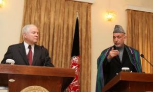 Defense Secretary Gates Meets With Afghan President