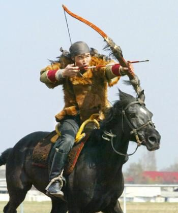 Kirghiz acrobat rider (Vyacheslav Oseledko/AFP/Getty Images)