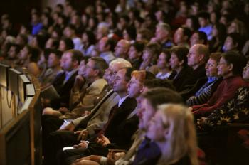 Audience watches the DPA performance in Houston on Dec. 23. (The Epoch Times)