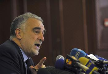 International Criminal Court (ICC) chief prosecutor Luis Moreno-Ocampo talks on May 8, during a press conference in Nairobi. Ocampo said prosecutions over the deadly post-vote violence in Kenya in 2009, would send a strong message ahead of a string of elections due in Africa. (Simon Maina/AFP/Getty Images)