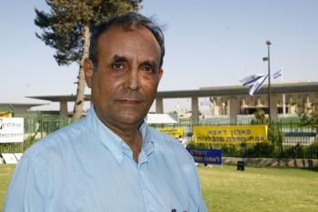Chairman of the Hebrew Writers Association, Balfour Hakak (Tikva Mahabad/The Epoch Times)