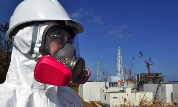 A journalist watches the stricken Fukushima Daiichi nuclear power plant on Feb. 28. Recent studies conclude that the accident was entirely preventable. (Yoshikazu Tsuno/AFP/Getty Images)