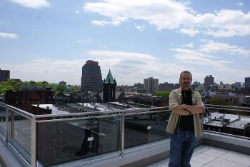 Jeff Bennett of R&B Developments on the rooftop of 117 WindowsOn123. (Charlotte Cuthbertson/The Epoch Times)