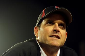 Stanford Cardinal head coach Jim Harbaugh is set to be the San Francisco 49ers' next head coach. (Mike Ehrmann/Getty Images)
