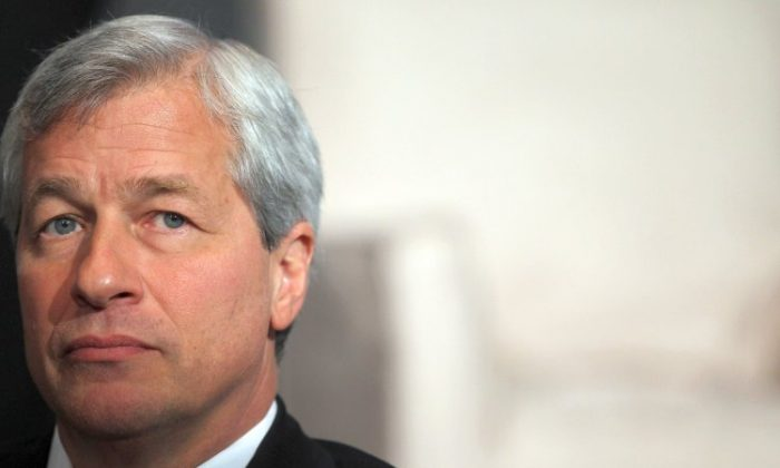 JPMorgan Chase & Co. CEO Jamie Dimon looks on while speaking at Simon Graduate School of Business at the University of Rochester's New York City Conference on May 3. Dimon will testify in front of the Senate Banking Committee on June 7. (Mario Tama/Getty Images)