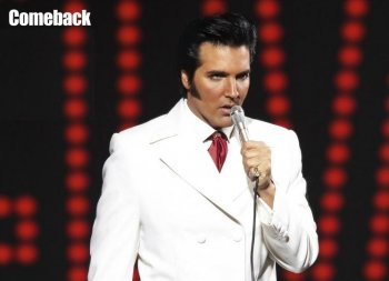 Long live the the King. Impersonator Stephen Kabakos channels Elvis. (Stephen Kabakos)