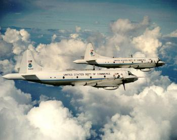 NOAA WP-3D Orion aircraft were used to collect ozone data for this study. (NOAA)