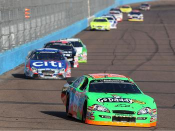 Brad Keselowski generated some controversy by wrecking Denny Hamlin on lap 158. Keslowski finished fifth, Hamlin, twelfth. (Christian Petersen/Getty Images)