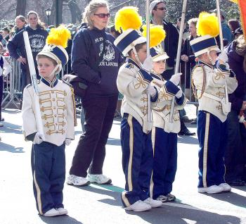BLUE LANCERS: Young member of the St Patrick`s School Blue Lancers. (Jonathan Weeks/The Epoch Times)