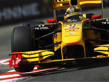 Robert Kubica pushed hard to qualify second for the Monaco Formula One Grand Prix. (Paul Gilham/Getty Images)