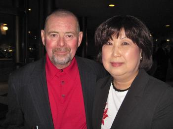 Mr. Williams and Young Sook at Shen Yun Performing Arts in San Jose, on April 9. (The Epoch Times)