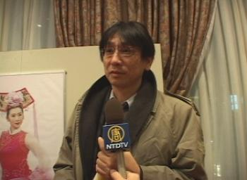 Shinichi Tokunaga, an attorney of the legal team of Global Lawsuit Against Jiang Zemin.  (Courtesy of NTDTV)