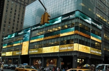 Lehman Brothers' headquarters in Manhattan. The investment bank is close to filing for bankruptcy, sources say. (Jonathan Weeks/The Epoch Times)