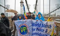 World Peace March Crosses Brooklyn Bridge