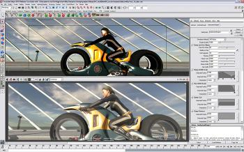 BIKER: Maya Hair is an intuitive toolset for the creation, styling, and rendering of fully dynamic long hair on NURBS or polygon objects. It includes the ability to make a NURBS curve dynamic for use in advanced character rigging and effects. (Courtesy of Autodesk)