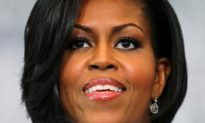 Michelle Obama Cracks Champagne Bottle for Stratton Christening