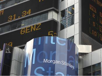 Federal prosecutors are questioning whether Morgan Stanley misled investors. (Timothy A. Clary/AFP/Getty Images)